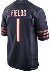 Justin Fields Chicago Bears Nike Home Game Football Jersey - Navy Blue