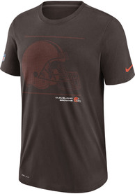 Cleveland Browns Nike DFCT Team Issue T Shirt - Brown