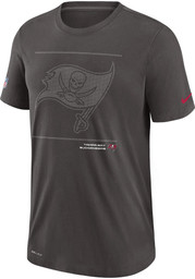 Nike Tampa Bay Buccaneers Grey DFCT Team Issue Short Sleeve T Shirt