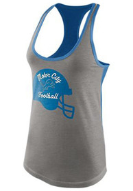 Detroit Lions Womens Nike Helmet Tri-Blend Tank Top - Grey
