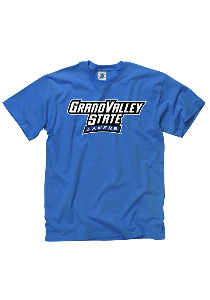 Grand Valley State Lakers Mens Blue Rally Loud Short Sleeve T Shirt - Image 1