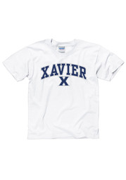 Xavier Musketeers Youth White Arch Mascot T-Shirt