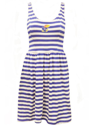 Kansas Jayhawks Womens White Peek-A-Boo Dress