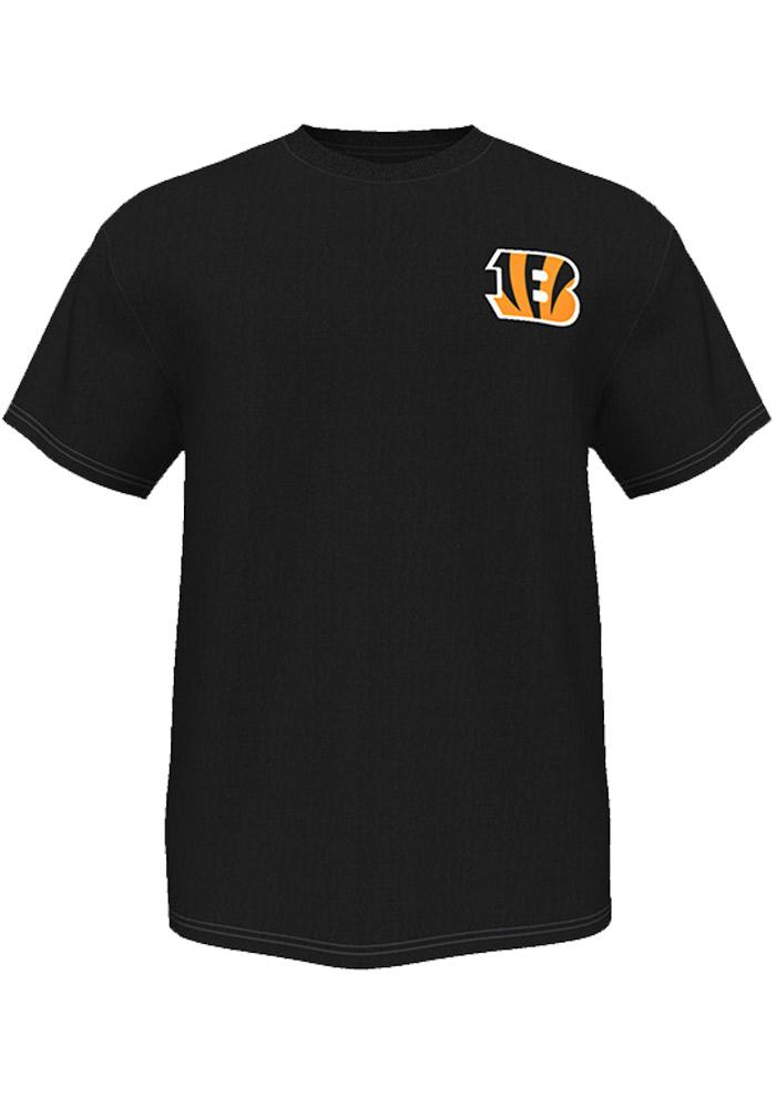 Majestic Cincinnati Bengals Black Two Sided Short Sleeve T Shirt - Image 2