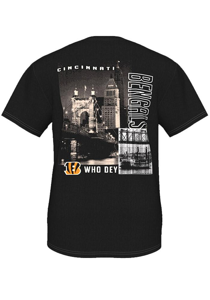 Majestic Cincinnati Bengals Black Two Sided Short Sleeve T Shirt - Image 3