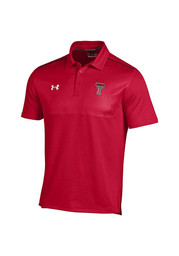 Under Armour Texas Tech Mens Red Sideline 2014 Short Sleeve Polo Shirt