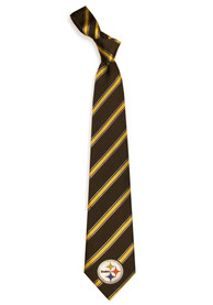 Pittsburgh Steelers Poly Woven Tie - Black