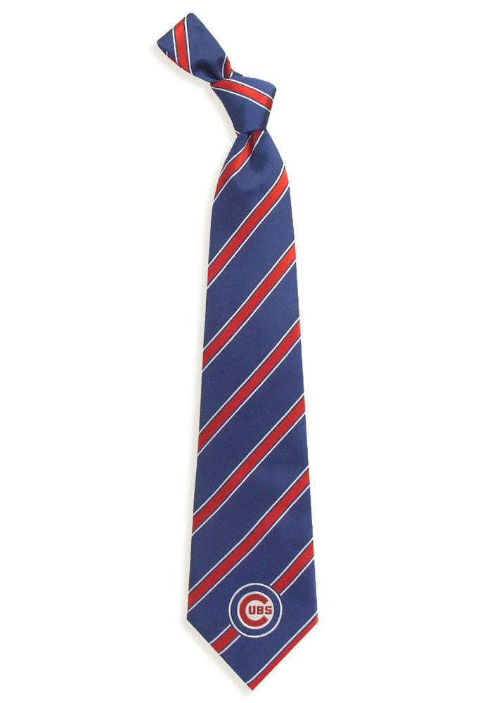 Chicago Cubs Poly Woven Mens Tie - Image 1
