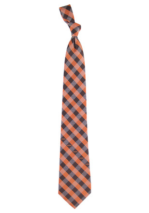 Cleveland Browns Poly Woven Check Tie