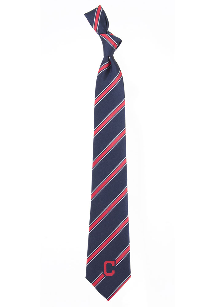 Cleveland Indians Poly Woven Mens Tie - Image 1