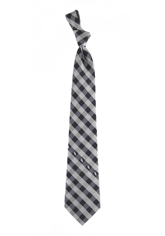 Chicago White Sox Check Mens Tie - Image 1