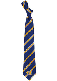 Pitt Panthers Poly Stripe Tie - Blue