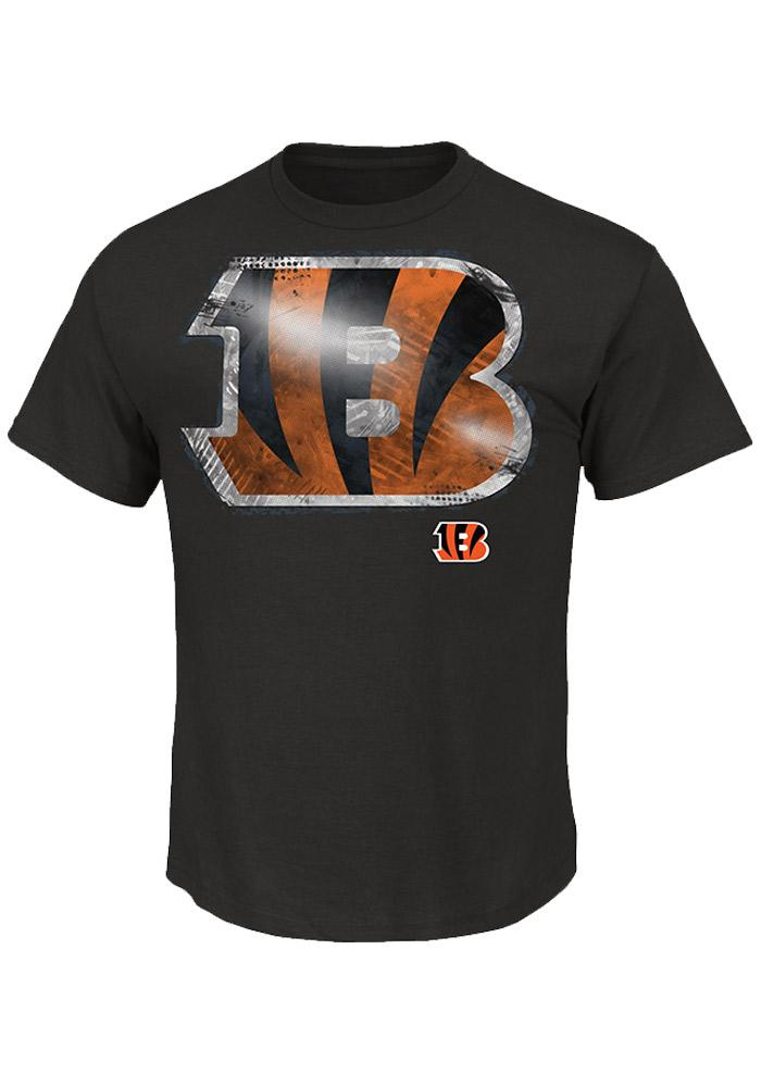 Majestic Cincinnati Bengals Black Line to Gain Short Sleeve T Shirt - Image 1