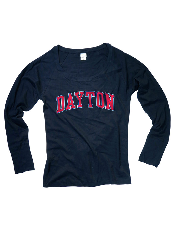 Dayton Juniors Navy Blue Cotton Jersey Long Sleeve Scoop Neck - Image 1