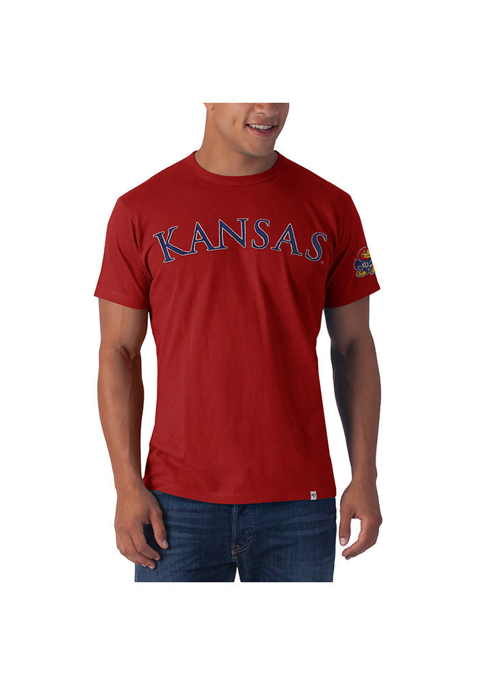 '47 Kansas Jayhawks Mens Red Arch Short Sleeve Fashion T Shirt - Image 1