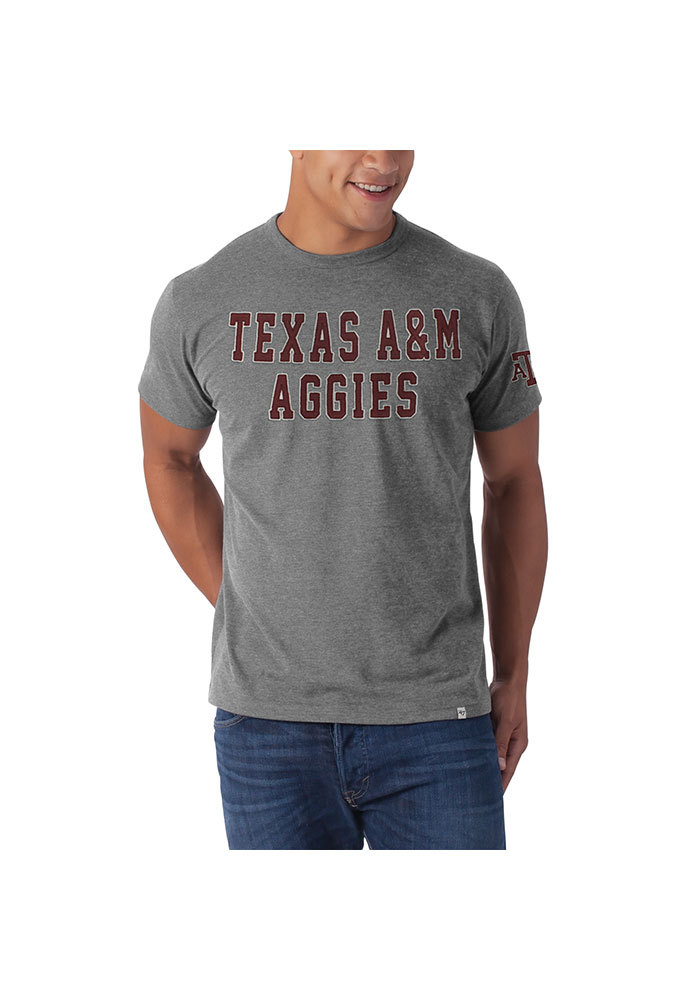 47 Texas A&M Aggies Grey Aggies Short Sleeve Fashion T Shirt - Image 1