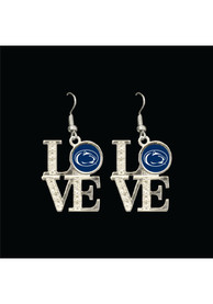 Penn State Nittany Lions Womens Love Dangle Earrings - Blue