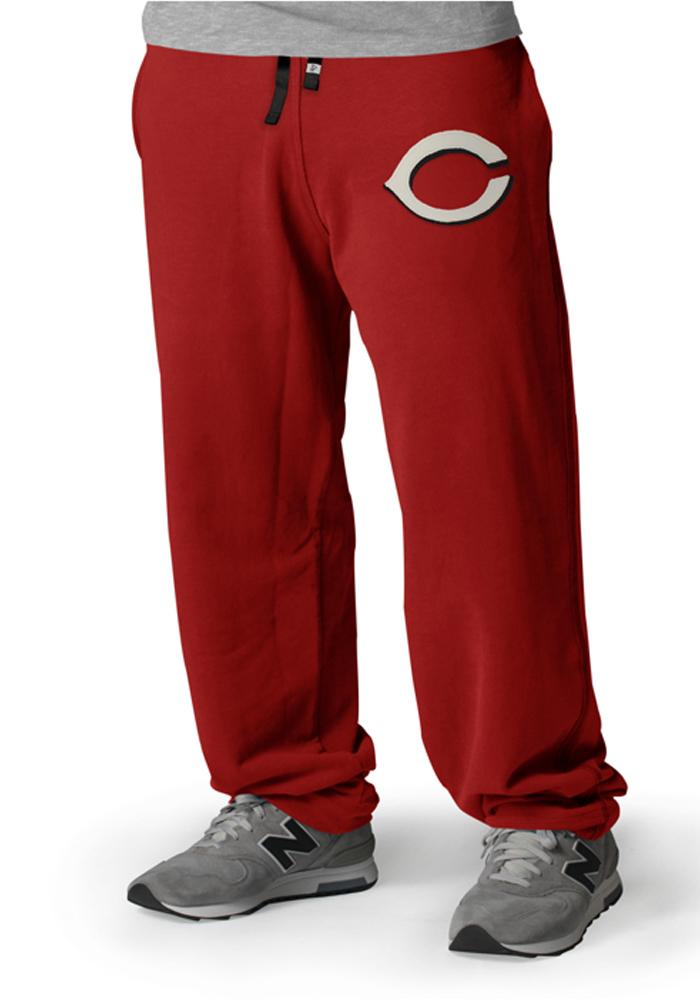 '47 Cincinnati Reds Mens Red Varsity Warmups Fashion Sweatpants - Image 1