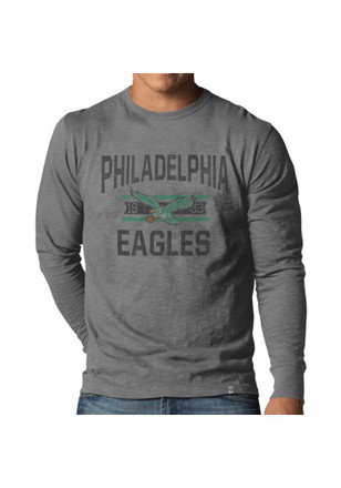 '47 Philadelphia Eagles Mens Grey Scrum Fashion Tee