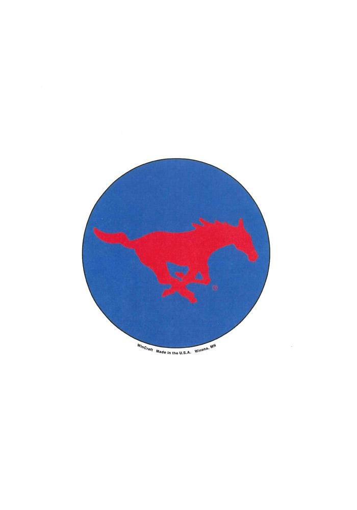 SMU Mustangs 3 Inch Button - Image 1