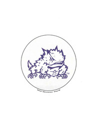 TCU Horned Frogs 3 Inch Button