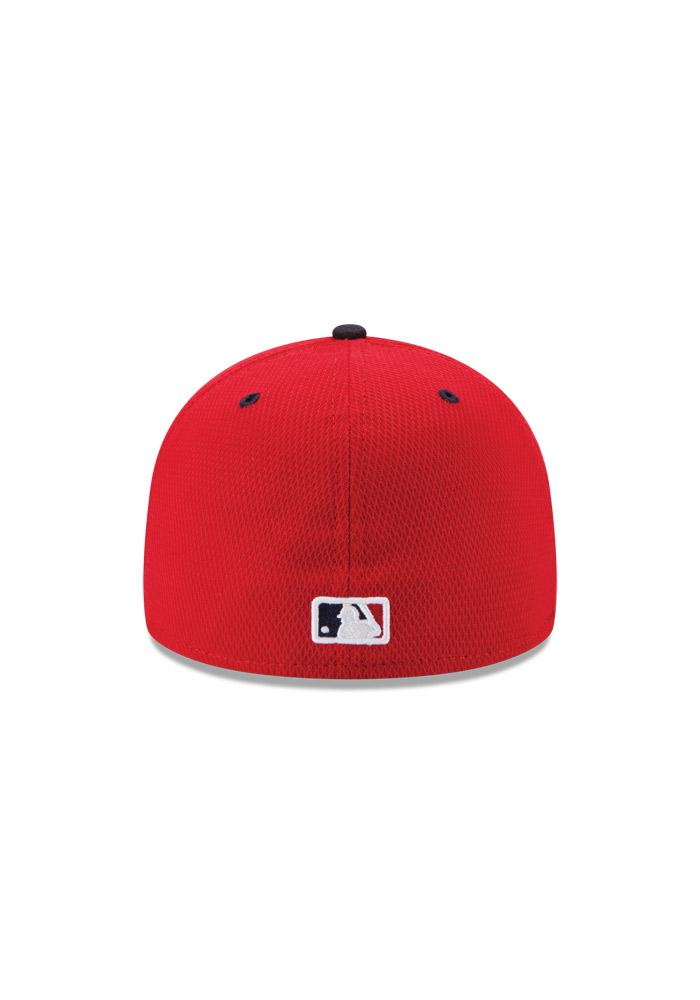 New Era Texas Rangers Mens Red Stars and Stripes Fitted Hat - Image 4