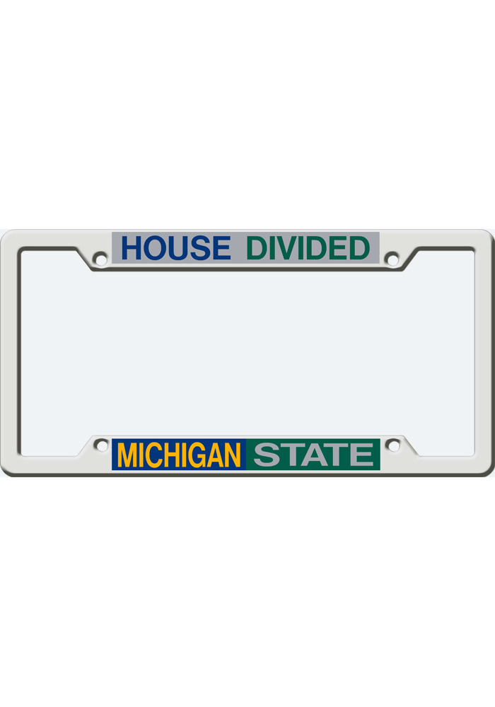 Michigan State Spartans House Divided License Frame - 16370695