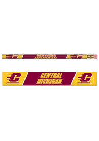 Central Michigan Chippewas 6 Pack Pencil
