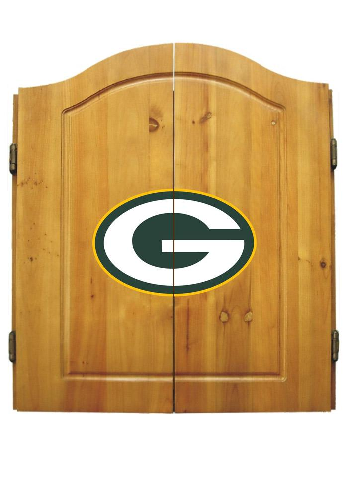 Green Bay Packers Team Logo Dart Board Cabinet - Image 1