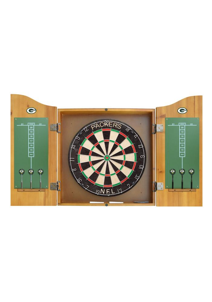 Green Bay Packers Team Logo Dart Board Cabinet - Image 2