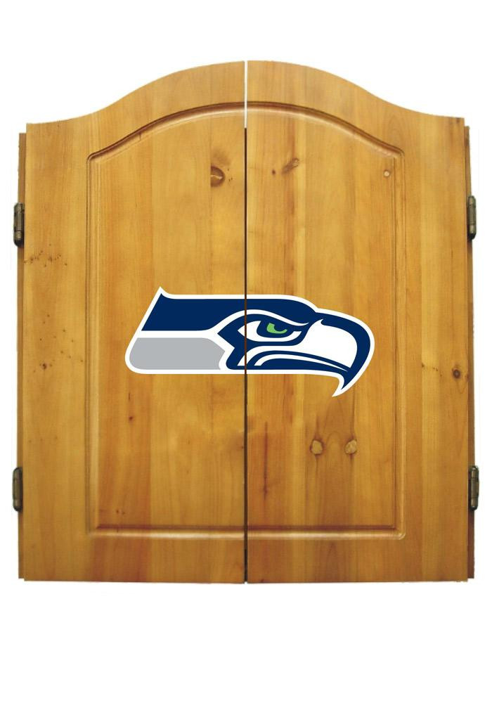 Seattle Seahawks Team Logo Dart Board Cabinet - Image 1
