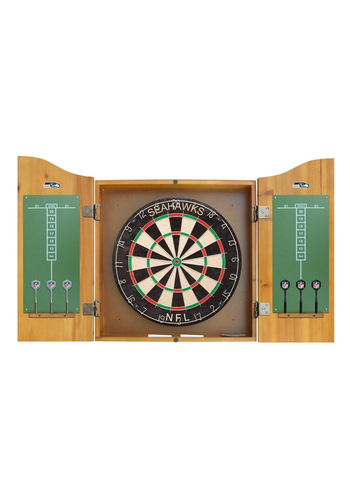 Seattle Seahawks Team Logo Dart Board Cabinet - Image 2