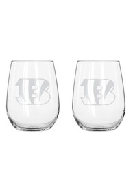 Cincinnati Bengals 16.5oz Stemless Wine Glass