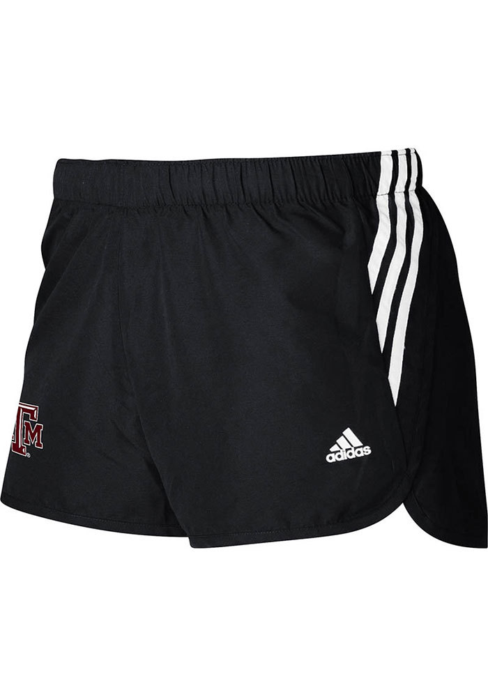 Adidas Texas A&M Aggies Juniors Black Screen Primary Shorts - Image 1