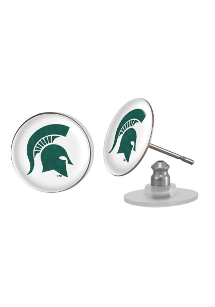 Michigan State Spartans Domed Post Womens Earrings - Image 1