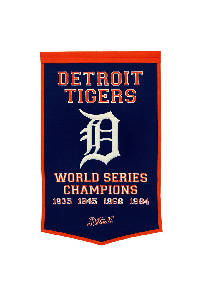 Detroit Tigers 24x38 Dynasty Banner - Image 1