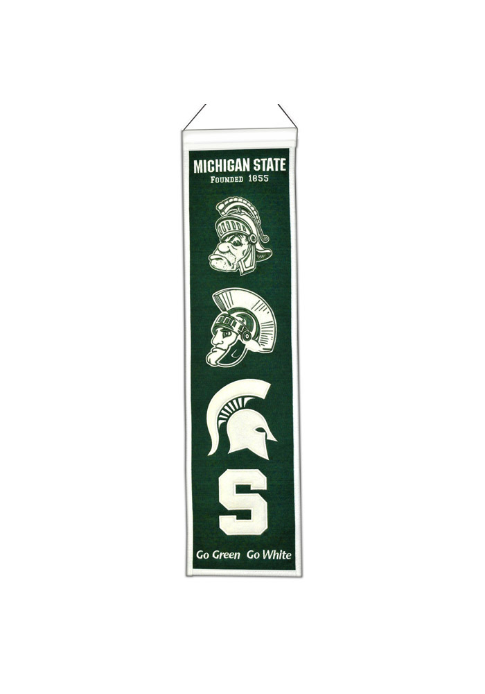 Michigan State Spartans 8x32 Heritage Banner - Image 1