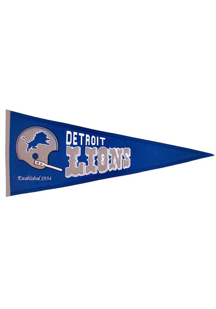 Detroit Lions 13x32 Throwback Pennant - Image 1