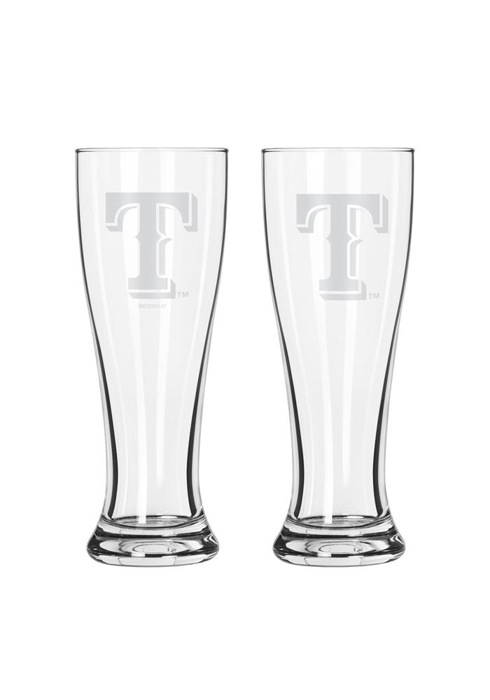 Texas Rangers 16oz Clear Pilsner Glass - Image 1