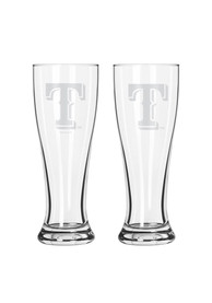 Texas Rangers 16oz Clear Pilsner Glass