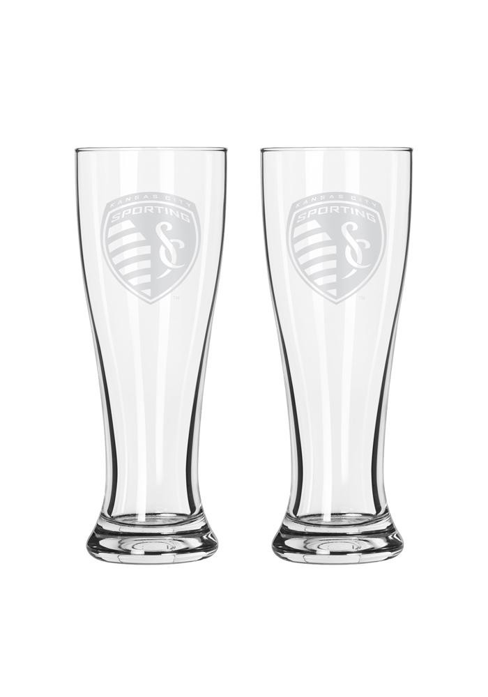 Sporting Kansas City 16oz Clear Pilsner Glass - Image 1