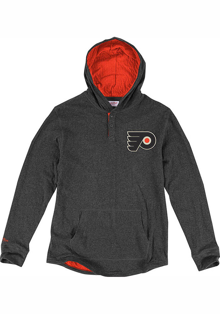 Mitchell and Ness Philadelphia Flyers Grey NHL Hooded Fashion Tee 7b51d9bbc