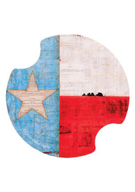 Texas 2 Pack Car Coaster - Red