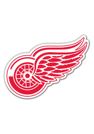 Detroit Red Wings 12 Inch Logo Car Magnet - Red