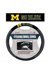 Michigan Wolverines Poly-Suede Auto Steering Wheel Cover