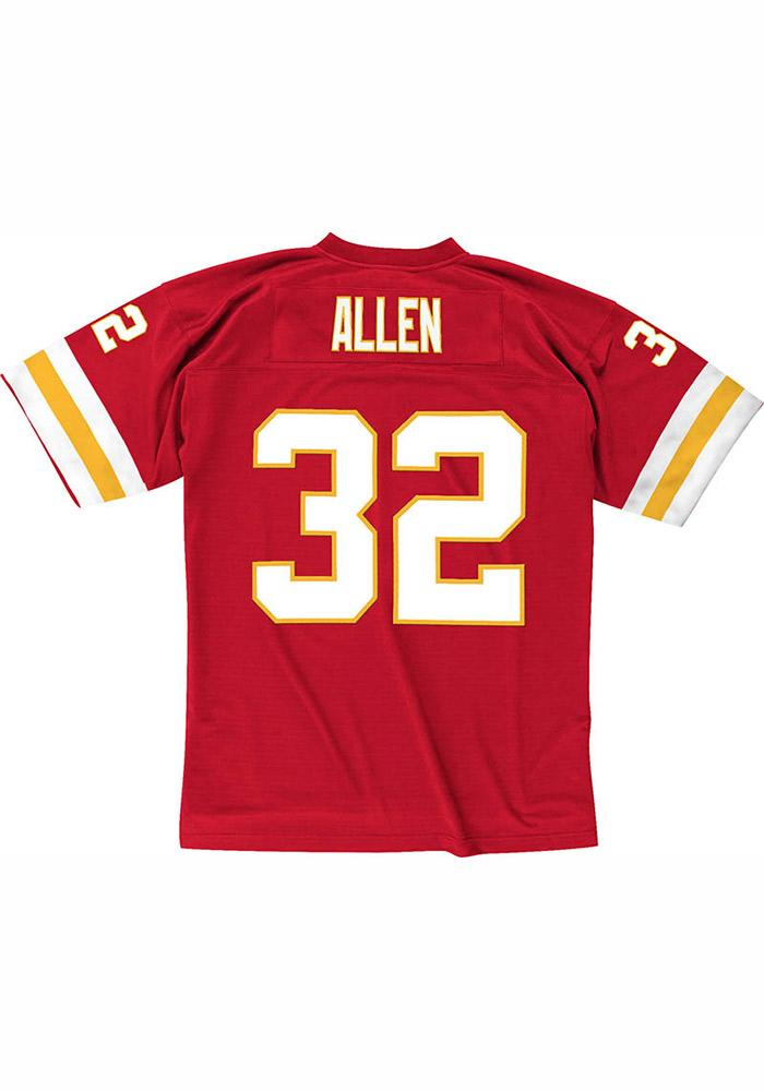 Marcus Allen Mitchell and Ness Kansas City Chiefs Mens Red 1994 Replica Football Jersey - Image 2