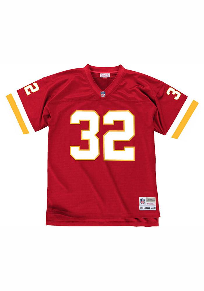 Marcus Allen Mitchell and Ness Kansas City Chiefs Mens Red 1994 Replica Football Jersey - Image 3