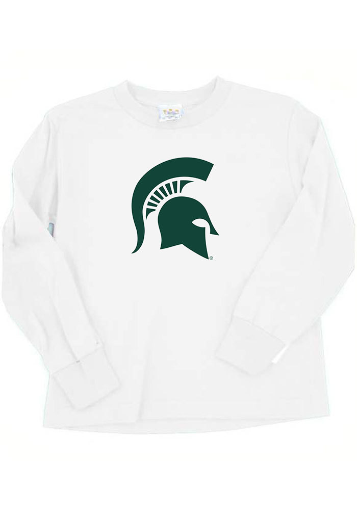 Michigan State Spartans Baby White Mascot Long Sleeve T
