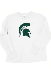 Michigan State Spartans Baby White Mascot Long Sleeve T-Shirt