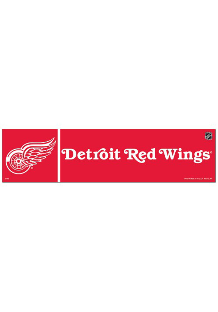 Detroit Red Wings 3x12 Bumper Sticker - White - Image 1